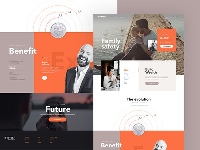 Finance investment finance clean design web page landing ui ux jackiewicz lluck