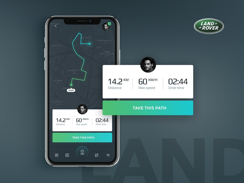 Land Rover App layout design clean ui ux app mobile rover land visuality jackiewicz subtl