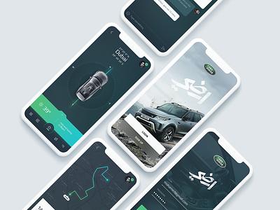 Land Rover mobile automotive vehicle rover land clean ui ux app subtl
