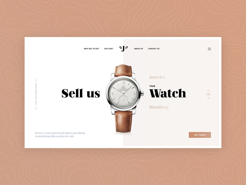 Watches clean luxury jewelry watches ui ux page landing layout design web jackiewicz subtl