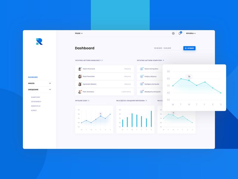 Real Estate - Dashboard analytics estate real clean dashboard layout app design web ui ux jackiewicz subtl