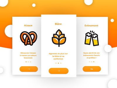 Route Biere Alsace ui design mobile app uidesign