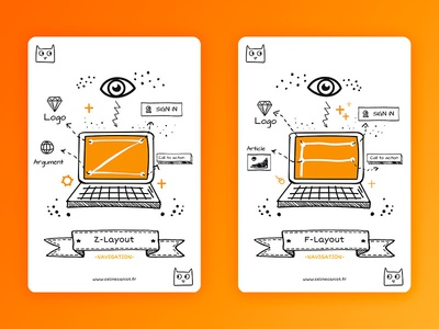 Ux Cards Layout freebies cat layout doodle card ux