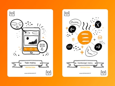 Ux Cards Menu1 free freebie freebies ui tab menu hamburger menu cat layout doodle card ux