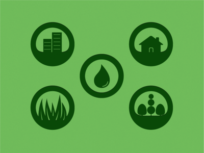 Lawn Maintenance Icons
