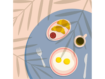 summer mood top view table summer graphic design ui illustration coffee breakfast