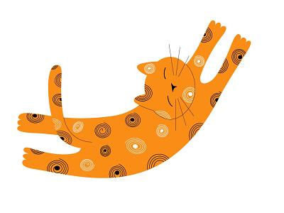 Cute cat cat vector graphic design vector illustration illustration