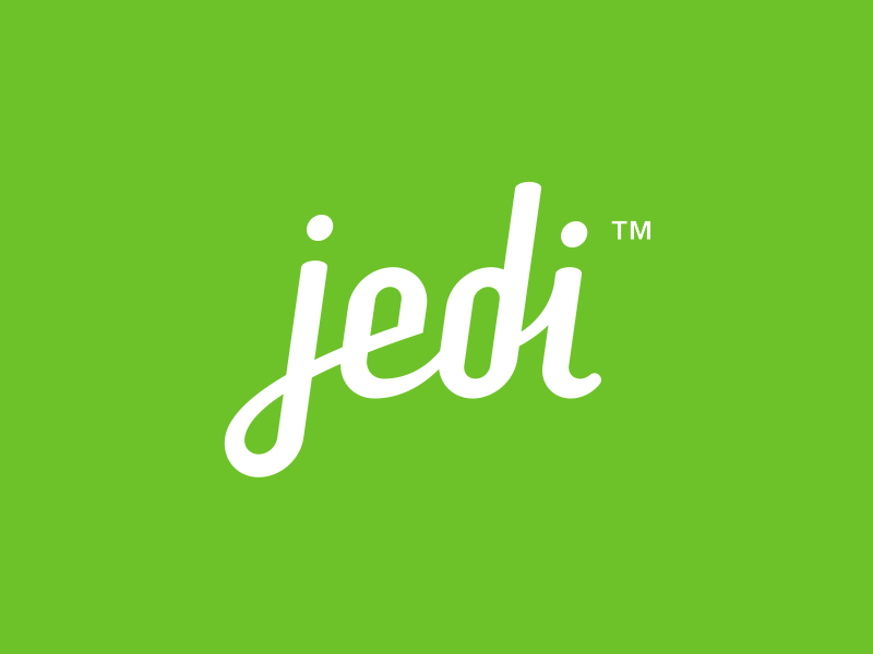 Jedi type typography cursive logo logotype jedi