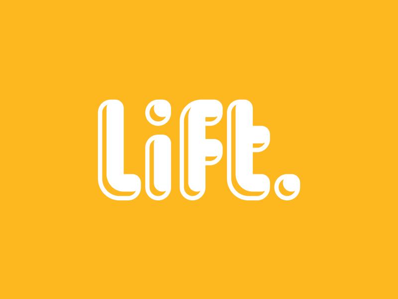 Lift type typography cursive logo logotype lift custom