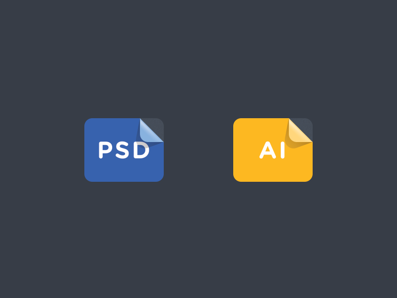 FREE - File Stickers file stickers free download create icon icons files filetypes psd ai orange blue