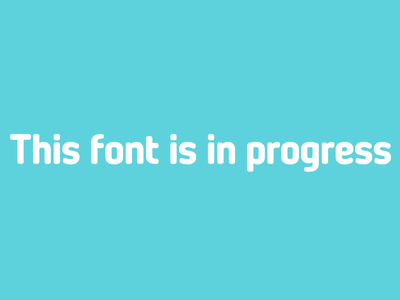 WIP font sans-serif font isaac grant rounded letters custom type sans serif