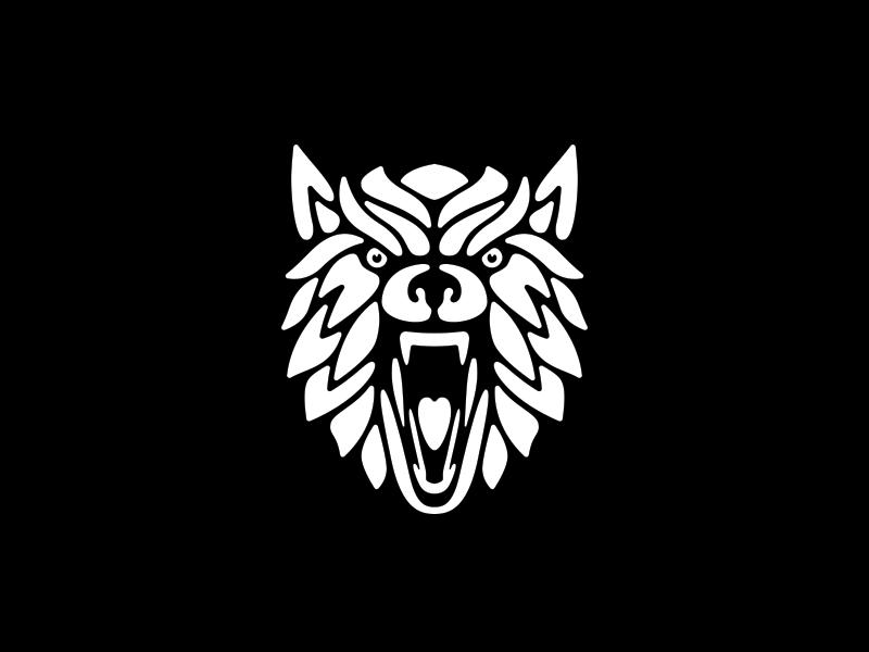 Wolf logo SOLD wolf face logo animal fierce