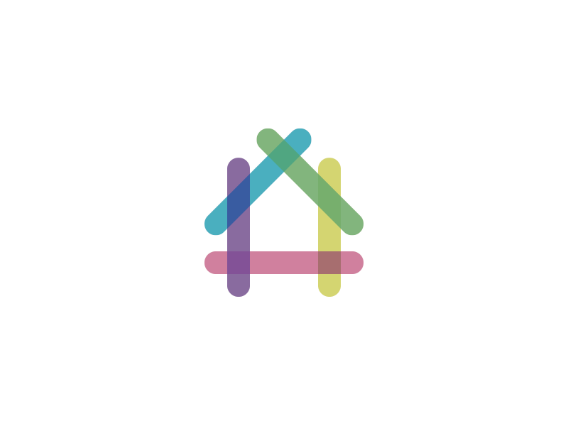 House house home realestate logo brand colorful