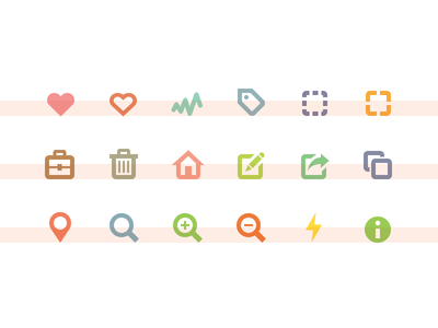 Working on icons