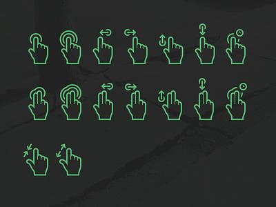 FINGAZ double tap zoom pinch resolution high hi-rez icons gesture
