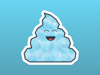 Diamond Poop Sticker