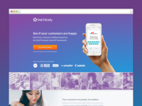 AskNicely Customer Focused Landing Page