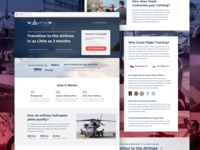 Coast Flight Training RTP Landing Page