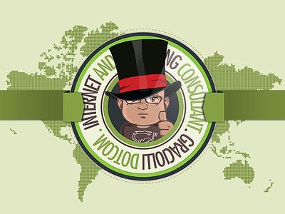 Internet & Marketing Consultant design illustration branding logo graphic design