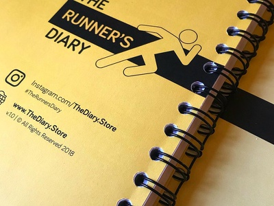 The Runner's Diary graphic design notebook print