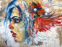 sprit - acrylic on canvas