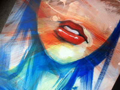 Quickie lips portrait mouth quick painting gestural