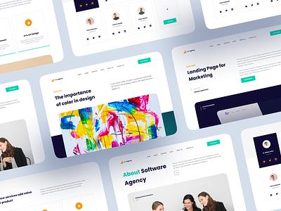 Creative Agency - Web Design team hero software agency creative product web design web website landing page