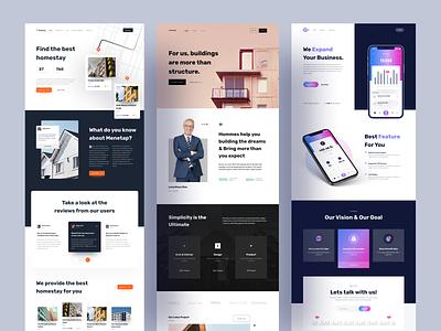 Landing Page - UI Kit homepage ui kit product web design website web landing page