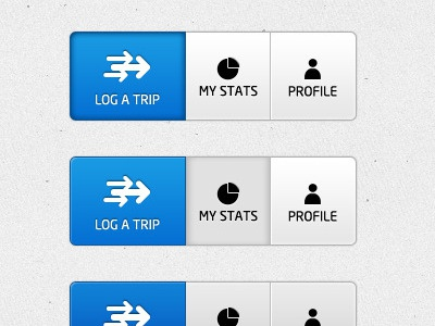 Navigation buttons buttons navigation selected hover interface log menu blue icon stats