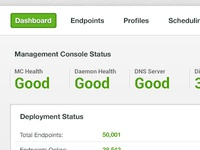 Dashboard dashboard green interface design status list overview profile