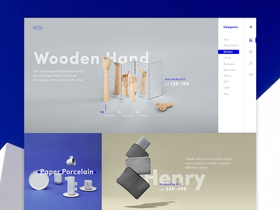 HAY dribbble! landingpage furniture decor home ux ui clean design digital webdesign debut concept