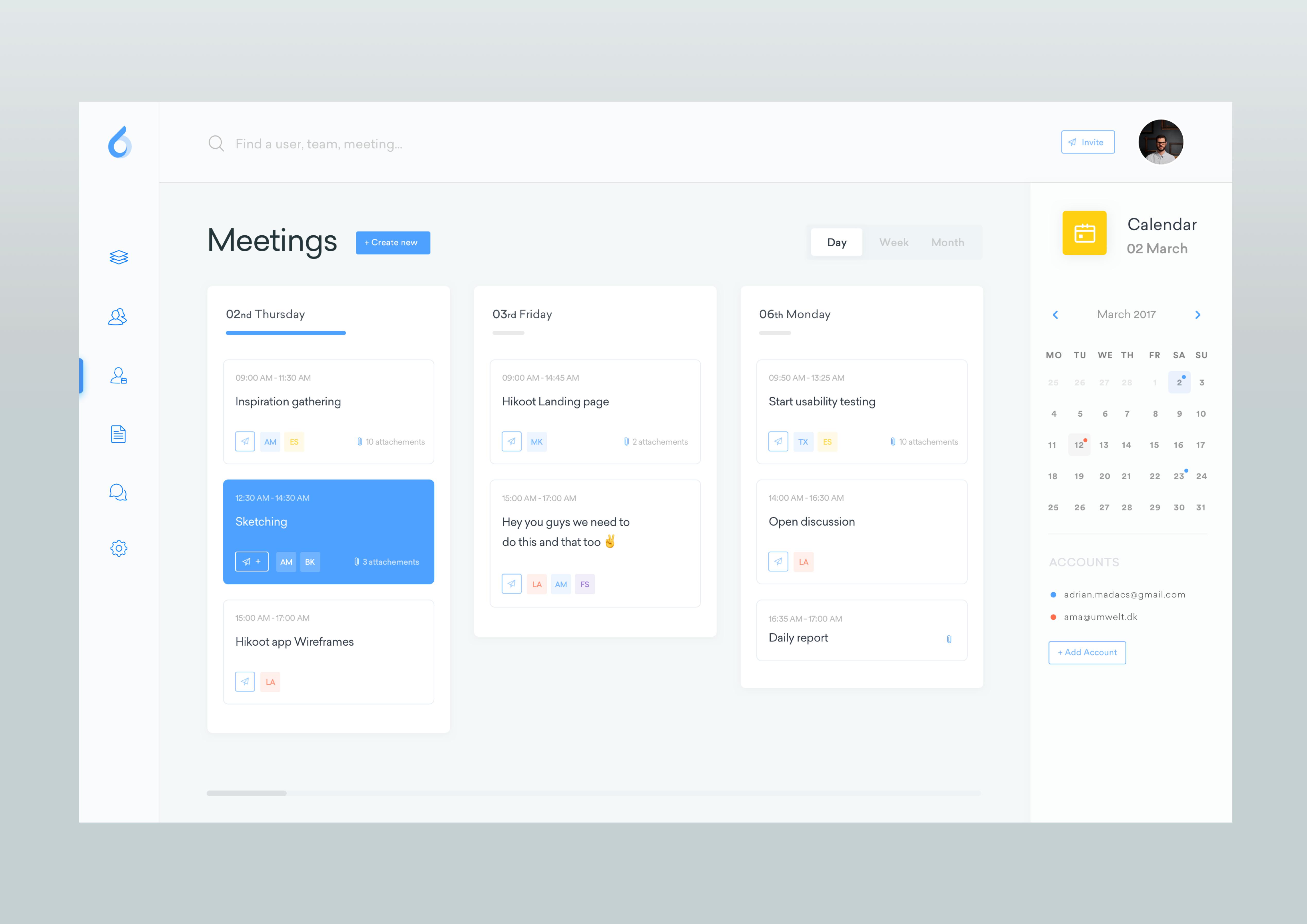 Meetings   dasboard