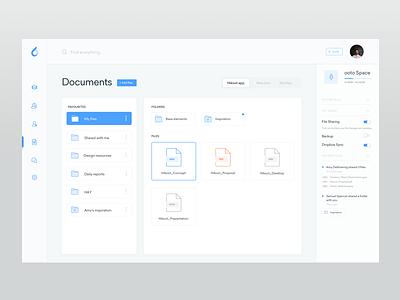 Files board - ooto Dashboard storage web list folders drive files documents dropbox dashboard clean cards collaboration