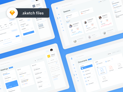 ooto Productivity Dashboards files cards product webapp stats data team calendar kit ui app landing page dashboard sketch freebie free interface schedule meeting