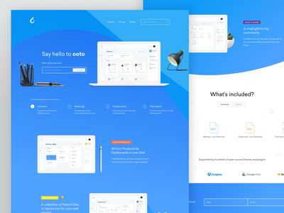 ooto Landing Page form app cards files interface webdesign dashboard landing page event clean landing page ui ux web design website schedule meeting