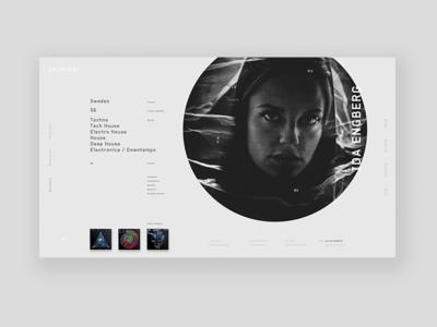 DRUMCODE Artist Profile #2 Exploration album clean grid label minimal music record type ui website techno drumcode