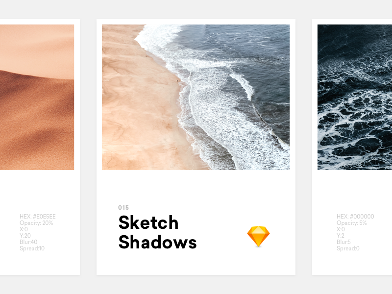 Sketch Shadows floating float neumorphism neumorphic material cards opacity transparency transparent drop sketch free freebie shadows download subtle shadow
