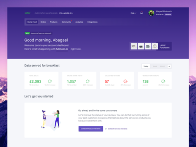 sellar - Home Feed crm ecommerce admin dashboard shop ui analytics data app web website os