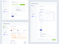 Indigo - Buying flow documents document sell progress webapp interface ux ui form wizard flow dashboard buying selling clean side navigation steps upload files