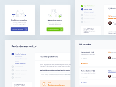 Indigo - Dashboard cards welcome sell progress webapp interface ux ui files upload steps navigation side clean selling buying dashboard flow wizard form
