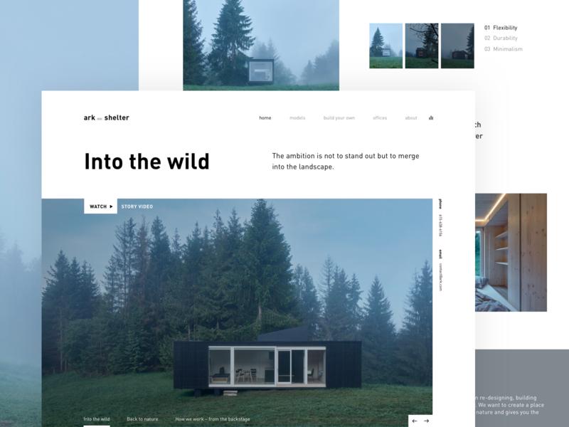 ark_shelter design typography webdesign ux forest minimalist shelter nature minimal minimalistic editorial ark simple webpage landing page grid website web ui clean