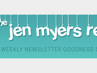 The Jen Myers Report Email Header