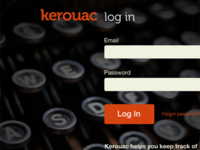 Kerouac Log In Screen