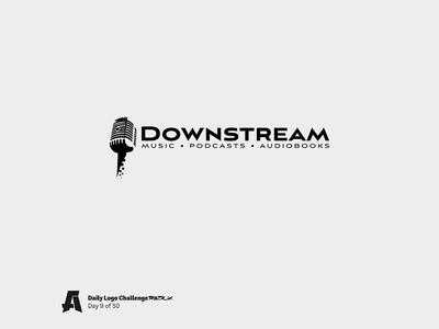 Daily Logo Challenge Redux, Day 9: Music Streaming Service 🎧 pixel audiobook podcast streaming music microphone branding vector design logo dailylogochallenge