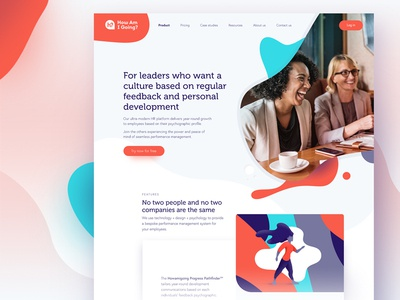 How am I going homepage illustration design smooth organic human people performance review howamigoing colour blob light