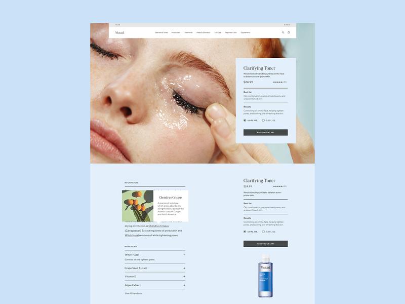 Murad – Detail Page skincare product detail pdp ecommerce design website murad