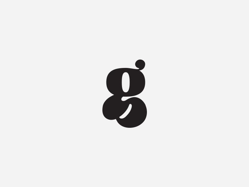 G is for thug typography custom type logo hand drawn g custom hand lettered
