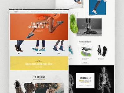 KEEN Footwear hiking outdoor web design website ecommerce