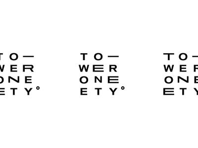 Tower180° modern minimal branding logo
