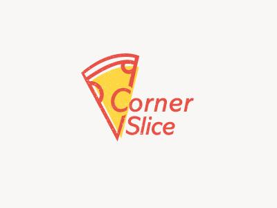 Corner Slice  logo new yum pizza slice corner